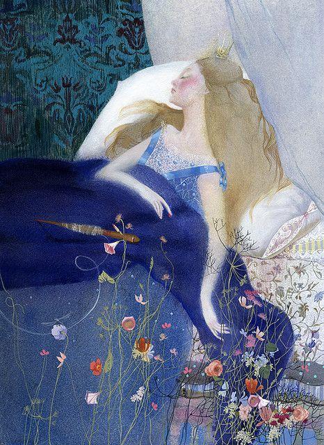 descanso principesco, ilustración de Nadezhda Illarionova.
