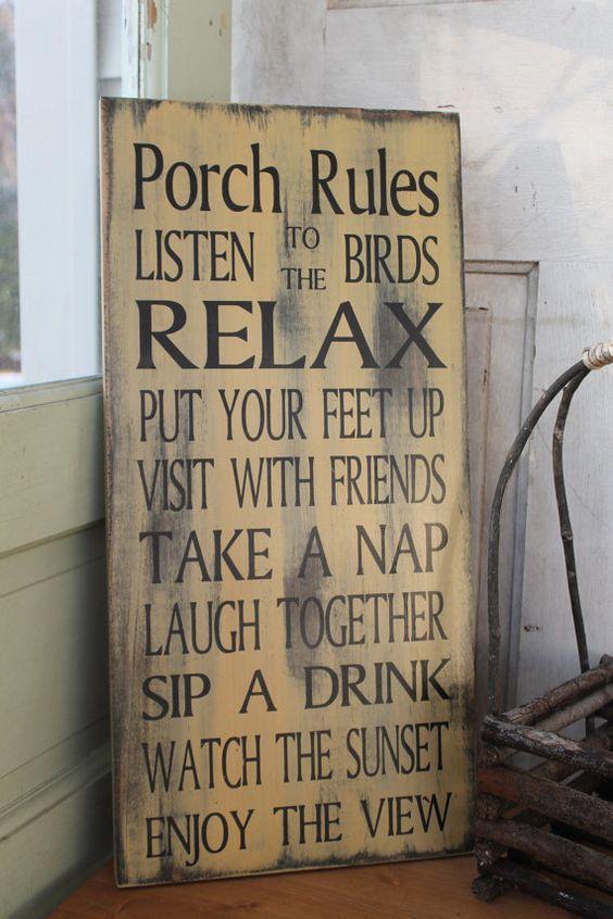 Vintage Style véranda, terrasse, Gazebo, arrière-cour ou Patio règles ou votre endroit préféré de règles  Nous faisons ces entièrement personnalisé pour