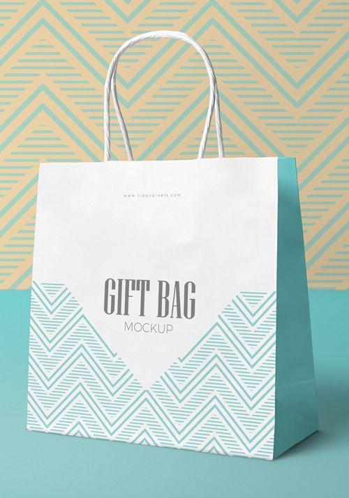Download Free Attractive Gift Bag Mockup Zippypixels Bag Mockup Bags Paper Gifts