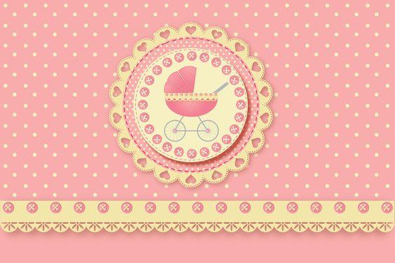 Fazendo a Minha Festa!: Carrinho de Bebê Menina - Kit Completo com molduras para convites, rótulos para guloseimas, lembrancinhas e imagens!