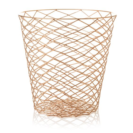 On trend wire bin with a repeat geometric diamond shape, perfect for storage or simply as a waste paper bin it's up to you