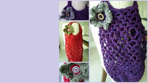 Crocheted Grocery Bag - The Supermums Craft Fair