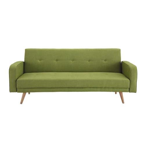 Ausziehbares 3 Sitzer Sofa Anisgrun Maisons Du Monde In 2020 Sofa Sofa Bett 3 Sitzer Sofa
