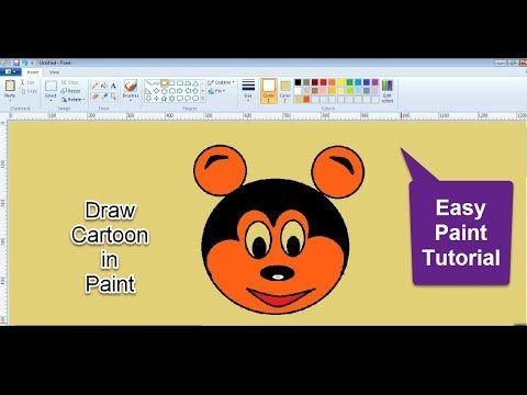 Paint Painttutorial Mspaint Draw A Cartoon In Paint Youtube Cartoon Tutorial Paint Program Tutorial