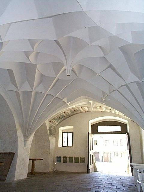 """Ceiling (in architectural parlance, """"groined diamond vault"""")"""