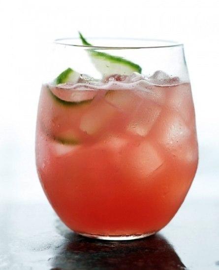 Watermelon Cucumber Cocktail {recipe via Martha Stewart}