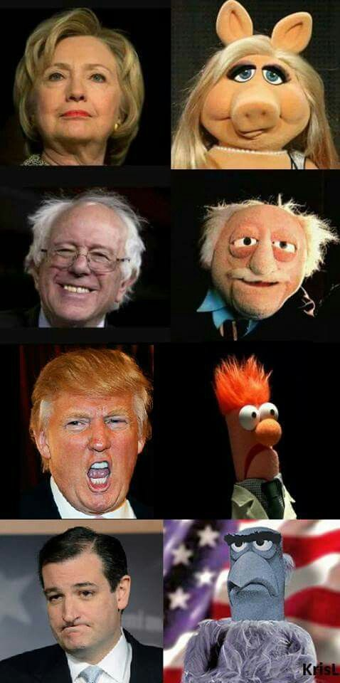 2016 U.S.Presidential candidates as Muppets: