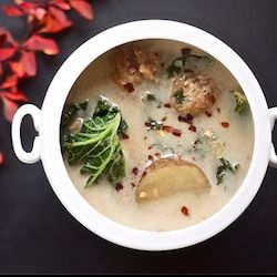 Kale, sausage and potato soup