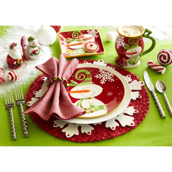 Holiday Place Settings: So Cute, Tables And Christmas Place Setting On Pinterest