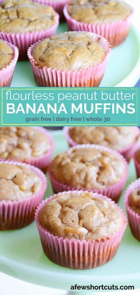 Flourless Peanut Butter Banana Muffins Recipe Banana Muffins