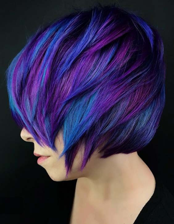 25 Stunning Blue Hair Color Ideas For Short Hair In 2018 With Images Bright Hair Colors Hair Color Blue Cool Hair Color