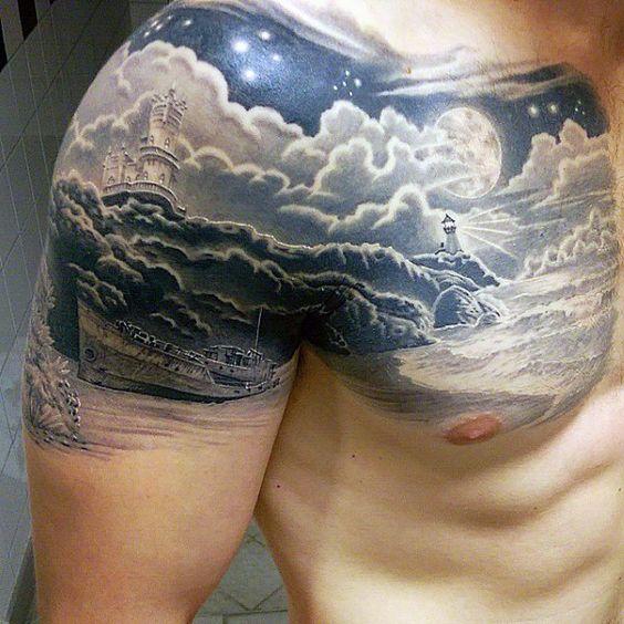 75 Beach Tattoos For Men