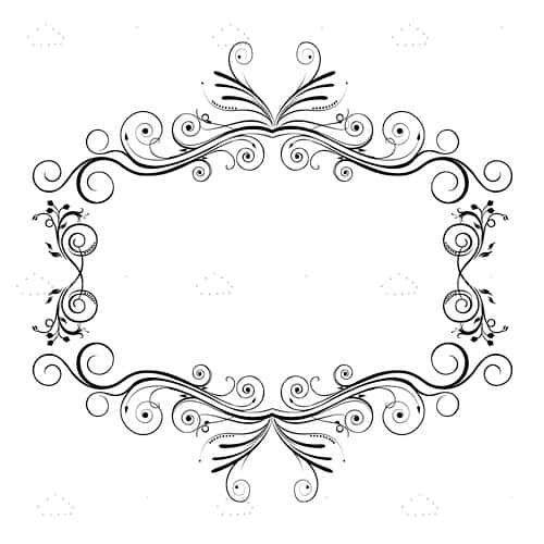 خلفيات فكتور اطار زهور بلون أسود وأبيض Floral Frame Background In Black And White Projects To Try Decor Home Decor