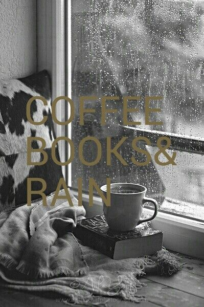 Coffee books rain:
