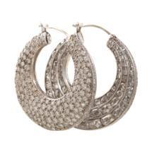 Munnu Double-Sided Rose Cut & Pave Diamond Hoop Earrings