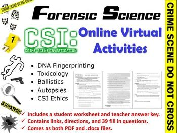 forensic science csi online virtual activities. Black Bedroom Furniture Sets. Home Design Ideas