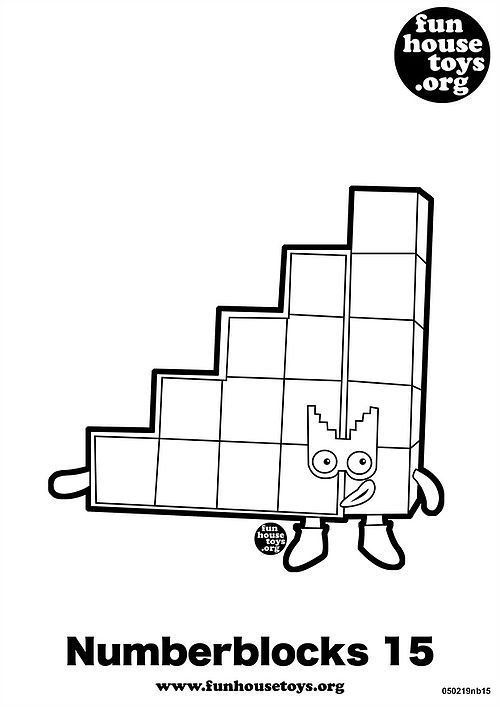 Fun House Toys Numberblocks Coloring Pages Printable Coloring Pages Color