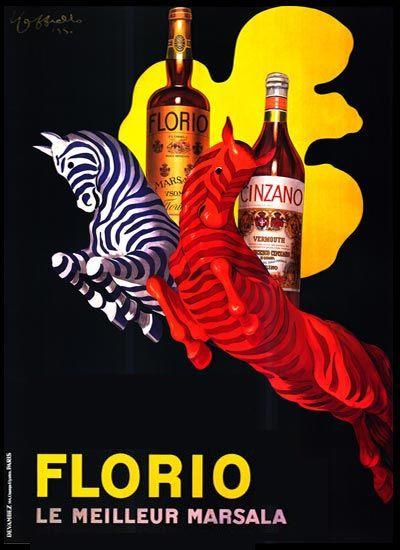 Vintage Florio Marsala poster (French)