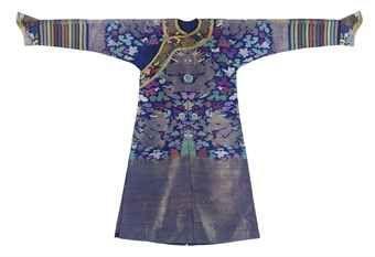 A blue summer gauze court robe. Qing dynasty, circa 1900 . Photo 2911 Christie's…