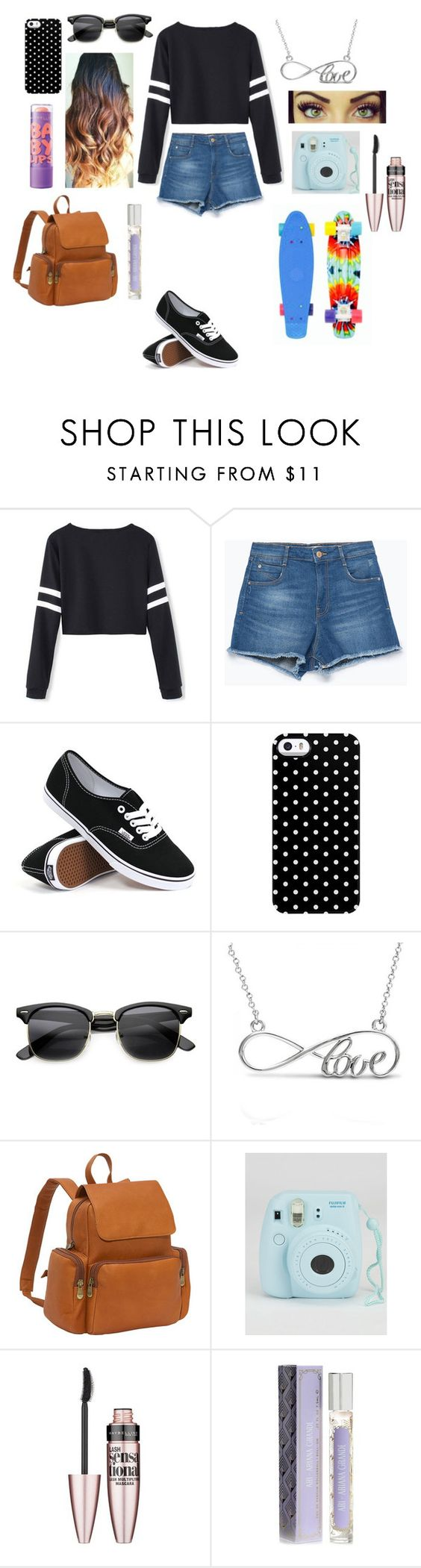 """""""Outfit #123"""" by prayonalexis ❤ liked on Polyvore featuring Zara, Vans, Uncommon, Allurez, Maybelline, Le Donne, women's clothing, women's fashion, women and female"""