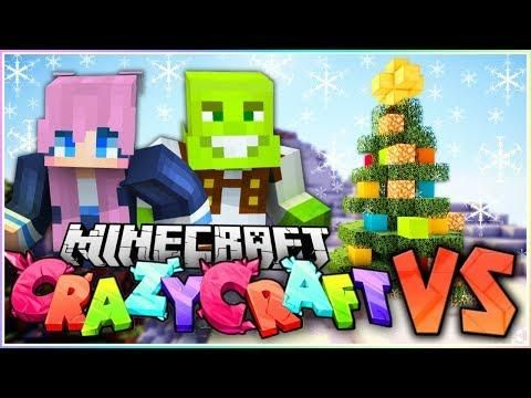 The Christmas Challenge Minecraft Crazy Craft Vs Christmas Challenge Crafts Christmas