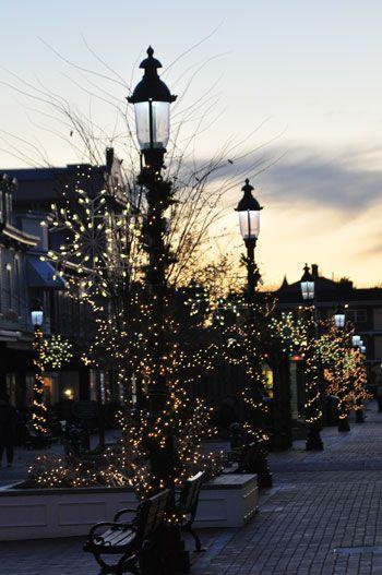 Washington Street Mall Christmas decorations
