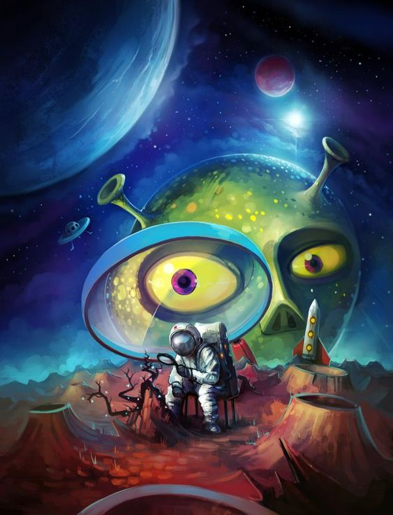 art aliens psychedelic - photo #33