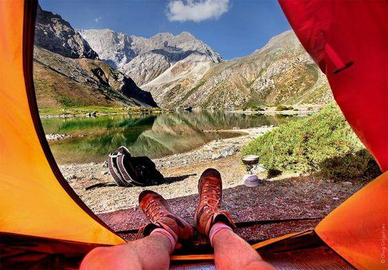 Утро в палатке