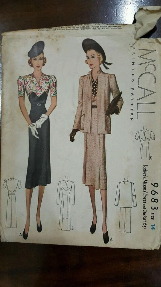 McCall 9683 | 1938 Dress & Jacket