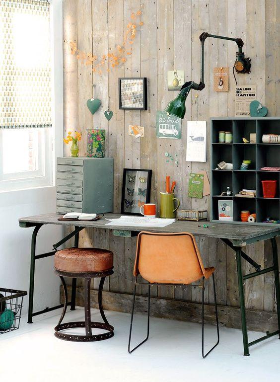 vintage office: