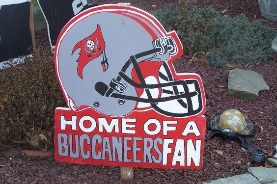 Hand Painted Tampa Bay Buccaneers Sport Signs. $23.50, via Etsy.