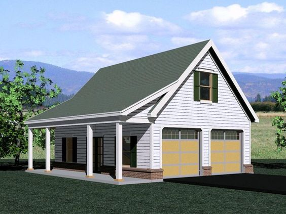 Pinterest the world s catalog of ideas for Garage plans with porch