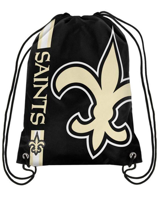 Forever Collectibles New Orleans Saints Big Logo Drawstring Bag