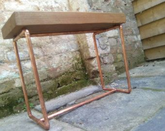 Mesa de madera reciclada de palets con patas por BowstreetcraftsCo