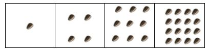 Square Foot Gardening Plant Spacing. To calculate how many plants per square, look on the back of the seed packet. Totally ignore the row spacing. Just look at the plant spacing: 12″ apart, plant 1 per square.  6″ apart, plant 4 per square.  4″ apart, plant 9 per square.  3″ apart (or less), plant 16 per square. (plants listed on website)