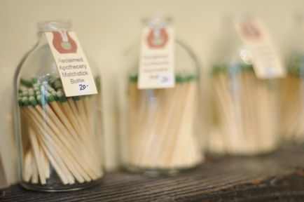 matchstick bottles that you can strike along the bottom