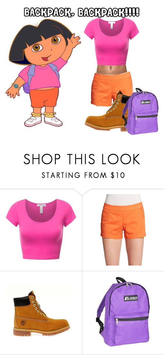 """GHETTO DORA COSTUME!"" by trolls143 ❤ liked on Polyvore featuring Trina Turk, Timberland, Everest and Halloween100"