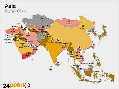 Peta Benua Asia - Ayo Dimana ...