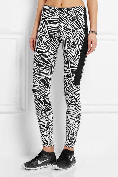 Schwarzer und weißer Jersey aus einer Stretch-Baumwollmischung  Ohne Verschluss  56 % Baumwolle, 33 % Polyester, 11 % Elastan  Maschinenwäsche
