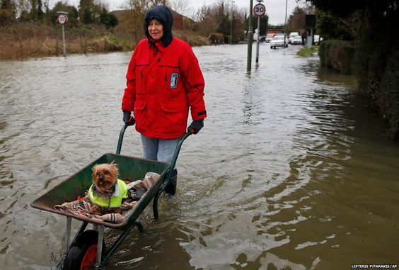 In pictures: Winter floods in UK