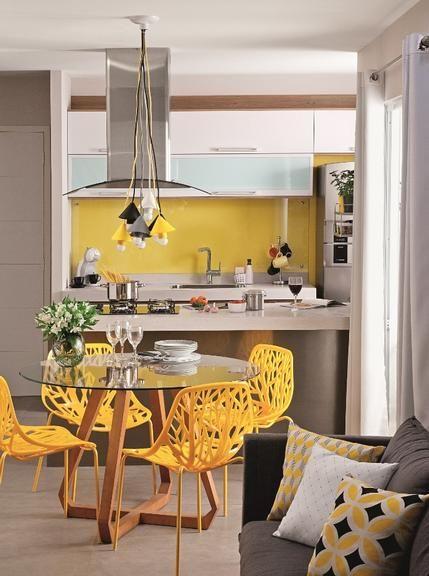 Revista MinhaCASA - Cozinha e sala de jantar para exibir:
