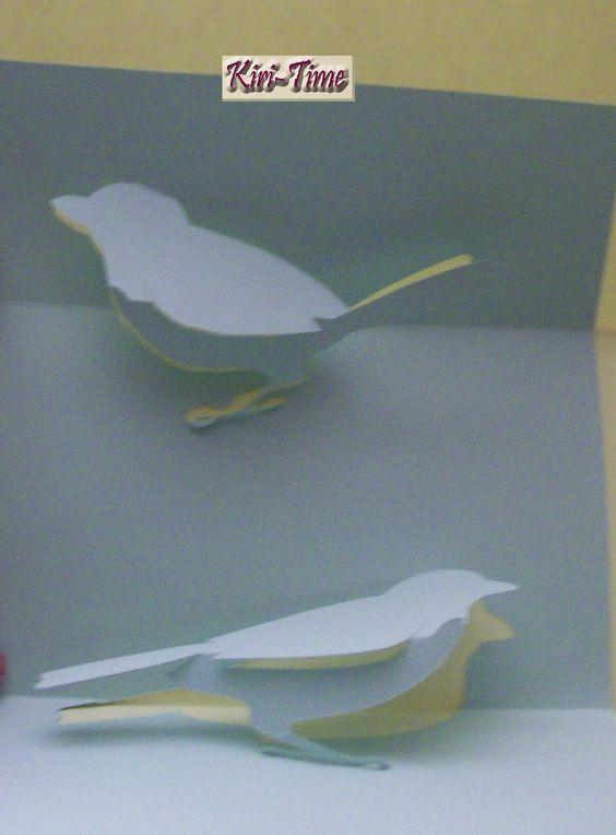 Cahier de Kirigami - Deux Oiseaux - Two Birds - Edition Love Paper