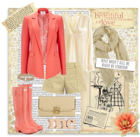 """coral obsesion 2"" by ana2cats on Polyvore"