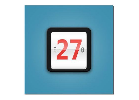 A stylish flip calendar icon created in Inkscape