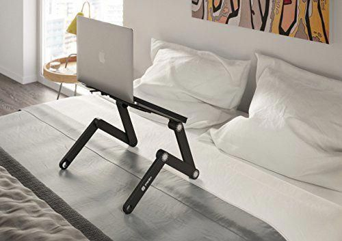 Pwr Laptop Table Stand Adjustable Riser Portable With Mouse Pad