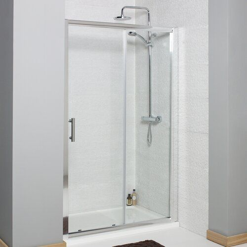 Neve 1850 X 1000 Mm Semi Frameless Glass Sliding Shower Door