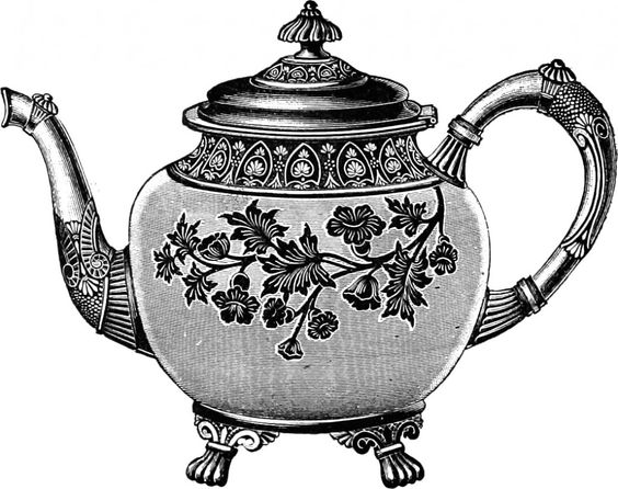 Free download Vintage Tea Kettle Clipart for your creation.
