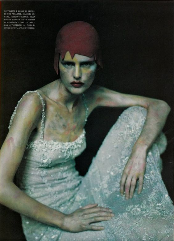 VOGUE ITALIA SEPTEMBER 1999 COUTURE SUPPLEMENT, RETRO AVVENIRISTICA COUTURE  Stella Tennant by Paolo Roversi