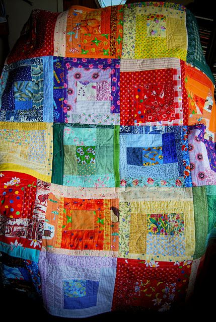 beautiful story about this quilt...made by little children for their papa.