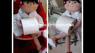 Boneca porta rolo de papel higiênico – Vivi Prado PT2 | Cantinho do Video